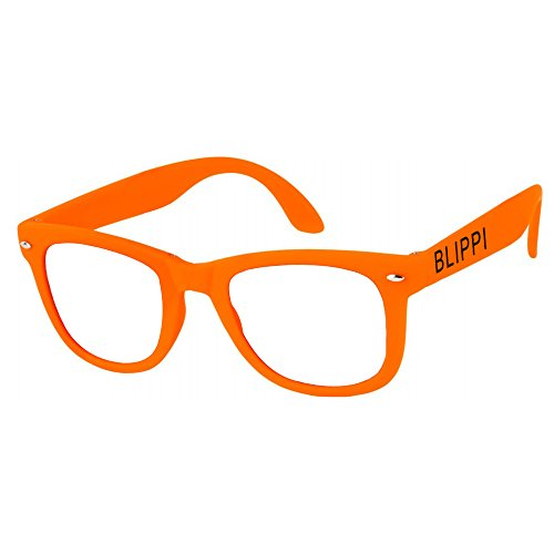 Blippi Glasses for Children - Orange Nerd - Toddler Nerd Glasses