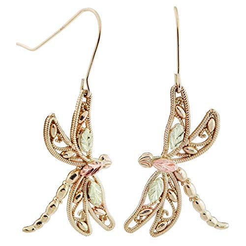- Black Hills Gold Dragonfly Earrings