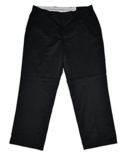 NEW Kirkland Mens Pleated Italian Wool Dress Slacks Black Cuffed Pants 34x32 - New Wool Pants