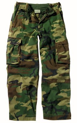 Rothco Woodland Camouflage Kids Vintage Paratrooper Fatigues 2546 Size Medium
