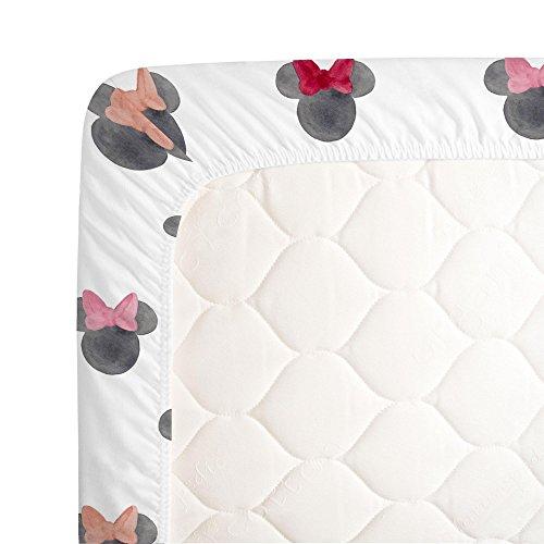 Amazon.com: Disney acuarela Minnie Orejas hoja de cuna – 100 ...