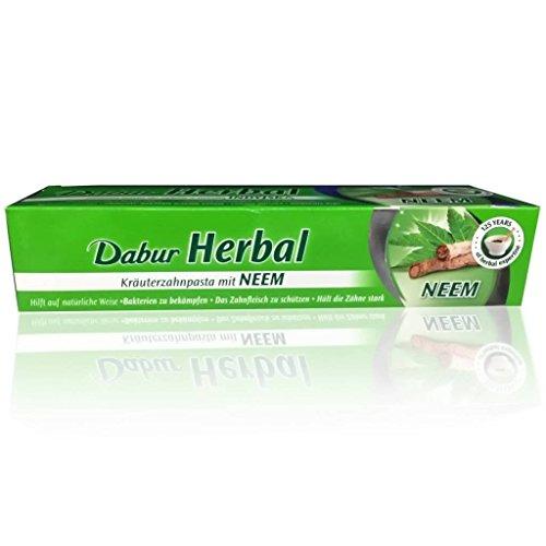 Dabur Herbal Neem Toothpaste 6.76 Fl Oz - 200 Gm. Added No Flouride