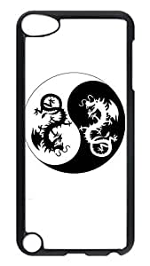 Brian114 Case, iPod Touch 5 Case, iPod Touch 5th Case Cover, China Dragon Oriental Style 27 Retro Protective Hard PC Back Case for iPod Touch 5 ( Black )