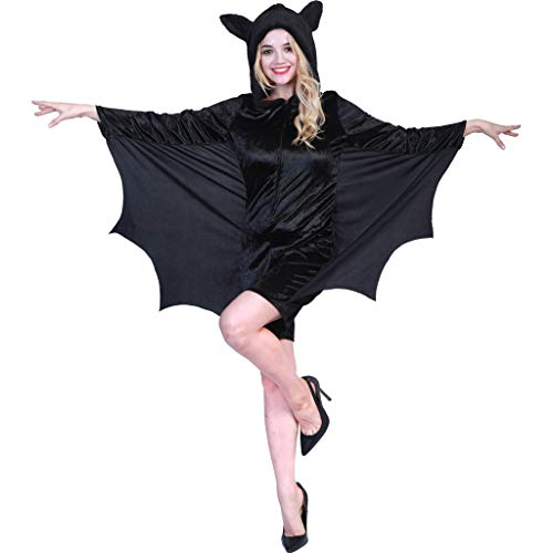 EraSpooky Women's Halloween Bat Costume Adult Vampire Suit Animal Costumes for Women - Funny Cosplay Party ()