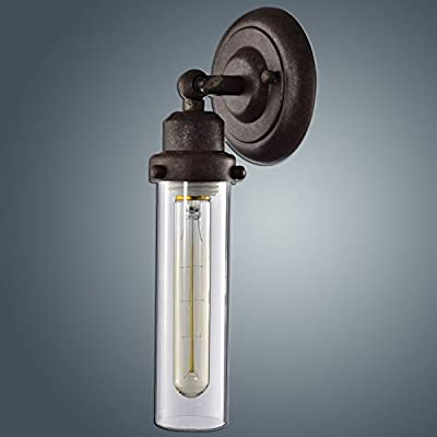 YOBO Lighting Antique 1-light Glass Wall Sconce Lighting
