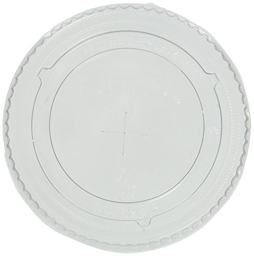 SOLO Cup Company - Ultra Clear Flat Cold Cup Lids f/16-24 oz Cups, PET, 100/Pack ()