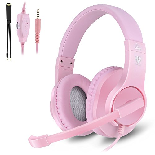 350 Leather (Kekilo Xbox One Headset PS4 Headset - 3.5mm Stereo Bass Surround, Noise Canceling Gaming Headset with Mic and Volume Control for Nintendo Switch, Laptop, Tablet, Smartphone Gamer Necessary)