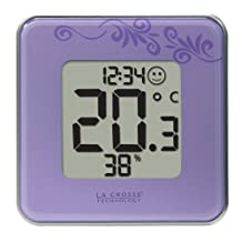 La Crosse Technology 302-604P Digital Thermometer & Hydrometer Station, Purple