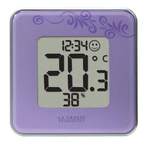 La Crosse Technology 302-604P Purple Indoor Digital Thermometer & Hygrometer Station with Comfort level icon