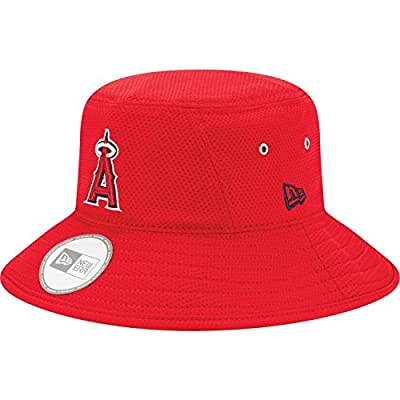 Los Angeles Angels Bucket Redux Red Bucket Hat For Men's By New Era