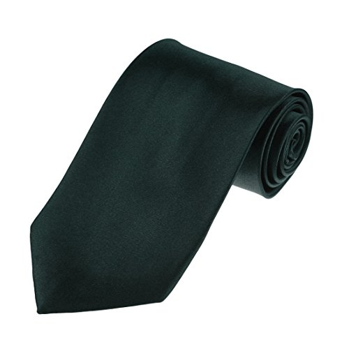 Necktie Dad (DAA3E01P Dark Green Solid Woven Microfiber Tie Inspire For Dad Perfect Necktie By Dan Smith)