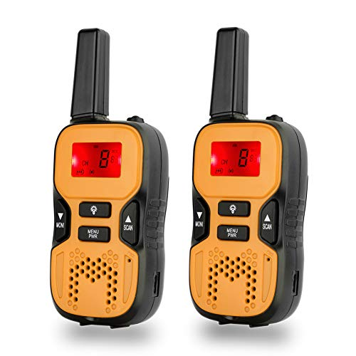 Rechargeable Walkie Talkies for Kids Family Interaction, Long Range Radios Childrens Walky Talky with Built in Flash Light