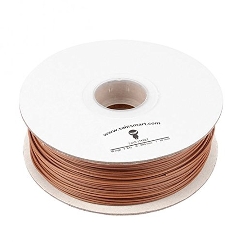 SainSmart Wood DarkBrown 1KG1 75 Printers Filament Brown