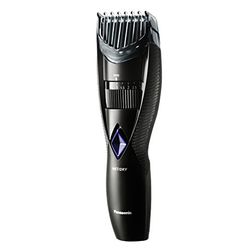 Panasonic Wet and Dry Cordless Electric Beard and Hair Trimmer for Men, Black, 6.6 Ounce (Clippers Dry Hair Wet)
