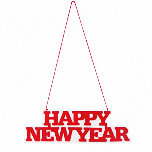 BESTOYARD New Years Hanging Decorations Happy New Year Decorations Door Hanger Party Accessory -