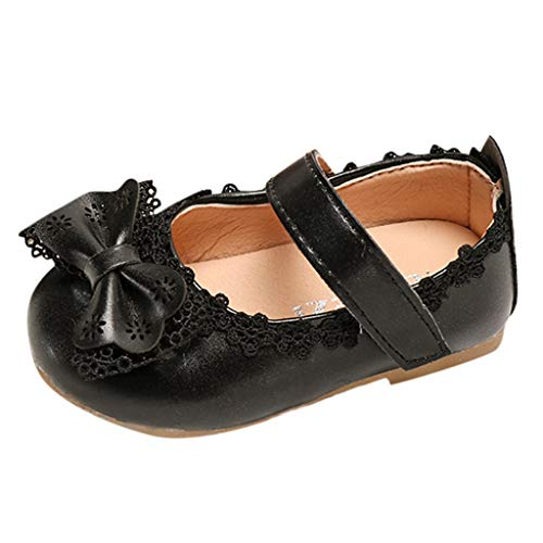 Tantisy ♣↭♣ Toddler/Little Girls Mary Jane Ballerina Flats Shoes Slip-on School Party Dress Shoes Black