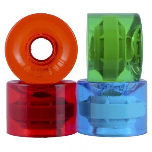 OJ Jolly Ranch Juice Trans Red/Blue/Green/Orange 78a Skateboard Wheels (60 mm) by OJ