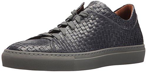Aquatalia by Marvin K. Mens Alaric Embossed Leather Sneaker Medium Grey