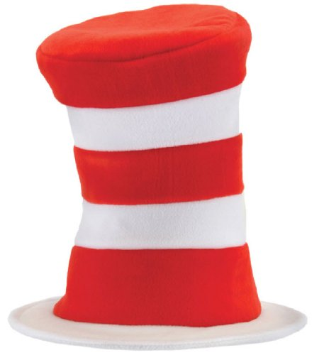 elope Deluxe Cat In The Hat Velboa, Red/White, One (Deluxe Cat In The Hat Costume)