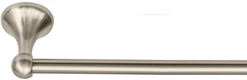 Satin Nickel 4-Piece Bathroom Hardware Accessory Set With 24 Towel Bar