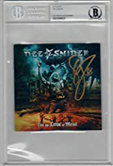 This listing is for a signed CD Cover byDEE SNIDERofTWISTED SISTER. Long time Lead Singer for Twisted Sister. Signed on the CD booklet of his solo album For the Love of Metal. Includes the CD. Thissignaturehasbeen certified by Beckett BAS Aut...