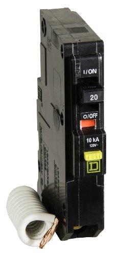 (Square D by Schneider Electric QO120GFICP QO Qwik-Gard 20 Amp Single-Pole GFCI Circuit Breaker)