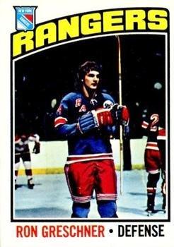 - 1976 O-Pee-Chee Regular (Hockey) card#154 Ron Greschner of the New York Rangers Grade Good