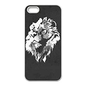 iPhone 5 5s Cell Phone Case White Horizontal Banner Lion of Judah SUX_923138