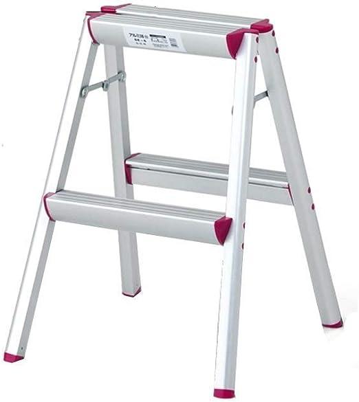 MMWYC Escalera Taburete Hogar Escalera de Aluminio Escalera Plegable multifunción Taburete Escalera en Espiga Escalera Ancha: Amazon.es: Hogar