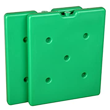 Acumulador Set Doble Pack – 2 x 1300 g Congelador batería Verde ...