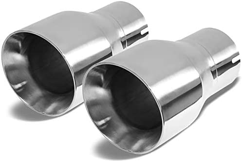 """3/"""" Inlet Twin Straight Cut 3/"""" Dual Wall Out 9/"""" Long Stainless Steel Exhaust Tip"""