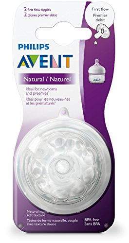 Philips Avent Natural Baby Bottle Nipple,  First Flow Nipple, 2 pounds, Clear