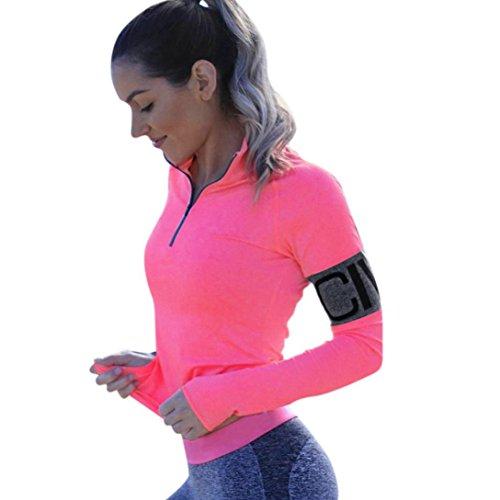 IEason Women Top, Women Letter Tracksuit Sweatshirt Sport Wear Zipper Blouse Tops (XL, (Wash Wool Suit)