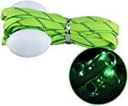 Vpang 1 Pair LED Light Shoelaces Luminous Flashing Glowing Shoestrings with 3 Light Modes for Night Sports