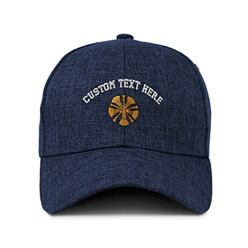Custom Twill Baseball Cap Chief Embroidery Design Acrylic Casual Hats for Men & Women Hook & Loop Navy Personalized Text Here
