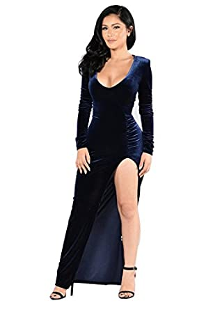 Goldfly Cocktail Dress For Women Long Sleeve Velvet Skirts Sexy