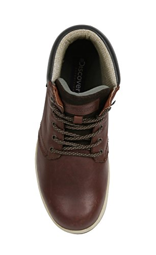 Pictures of Discovery Expedition Mens Leather High Top Lace Up Hiking Boot Brown Size 12 3