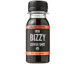 Bizzy Organic Cold Brew Double Shot - Caramel 12 Pack