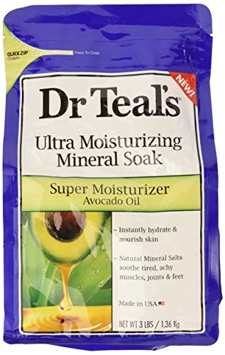 - Dr Teal's Super Moisturizer Avocado Oil Ultra Moisturizing Mineral Soak, 3 lbs