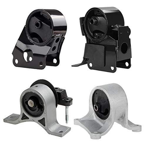 340 A7341 A7342 A7343 Transmission Engine Motor Mounts Replacement For 02-06 Nissan Altima 2.5L Auto ()