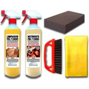 Sanmarino kit profesional limpieza tapicer as piel y cuero - Productos para limpiar tapizados ...