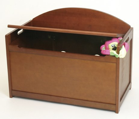 Child's Wooden Toy Box Chest - Cherry New Born, Baby, Child, Kid, Infant