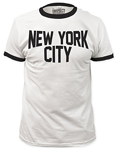 John Lennon New York City Ringer Fitted Jersey Tee L (John Lennon New York T Shirt)