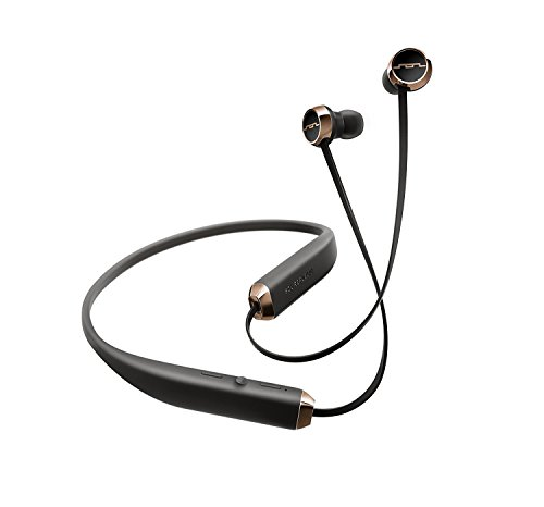 SOL REPUBLIC Shadow Wireless Bluetooth Earbuds – Multi-Device Connectivity, Folds in your Pocket, Noise Isolation, Featherweight Comfort, Rechargeable Battery, SOL-EP1140RS Black/Rose Gold