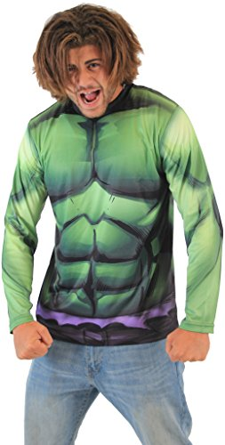 Marvel Incredible Hulk Sublimated LONG SLEEVE Costume T-Shirt (Adult Small)