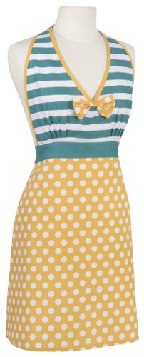 Now Designs Striped Apron (Now Designs Amelia Apron, Dotty)