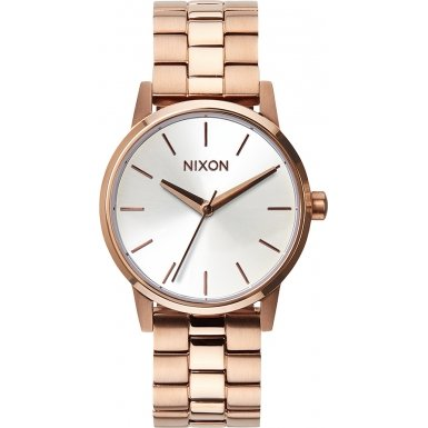 Nixon A361-1045 Ladies The Small Kensington Rose Gold White Watch
