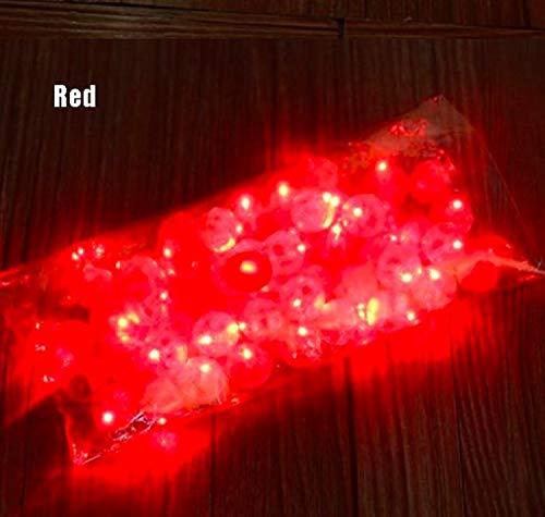 10Pcs/lot Round Ball Tumbler LED Balloon Lights Mini Flash Luminous Lamps for Lantern Bar Christmas Wedding Party Decoration by Rubyshop (Red) (Luminous Mini Lanterns)