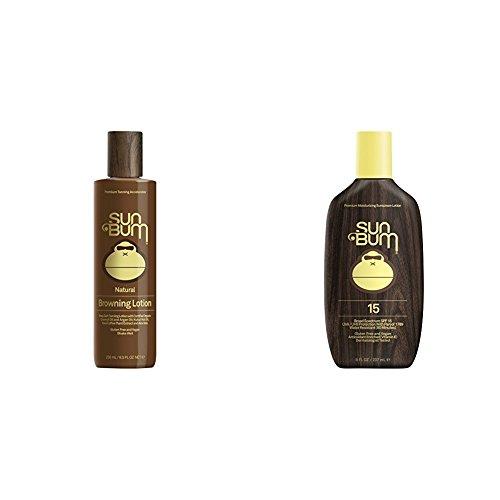 Sun Bum Original Sunscreen Lotion, SPF 15 and Moisturizing Browning & Tanning Lotion