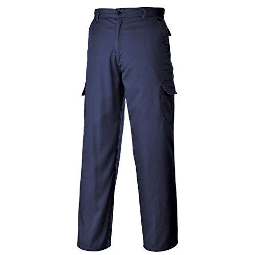 Portwest C701BKR28 Taille Longueur de jambe normale de Combat-Noir, Bleu - Bleu marine, Taille 97 cm x Long